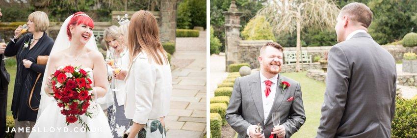 outdoor informal bride and groom