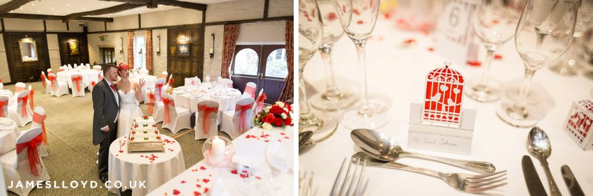 Wedding tables at Holdsworth House Hotel