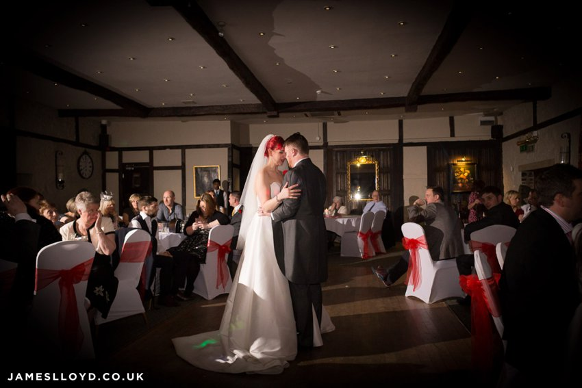 Bride and groom First dance at Holdsworth House Hotel