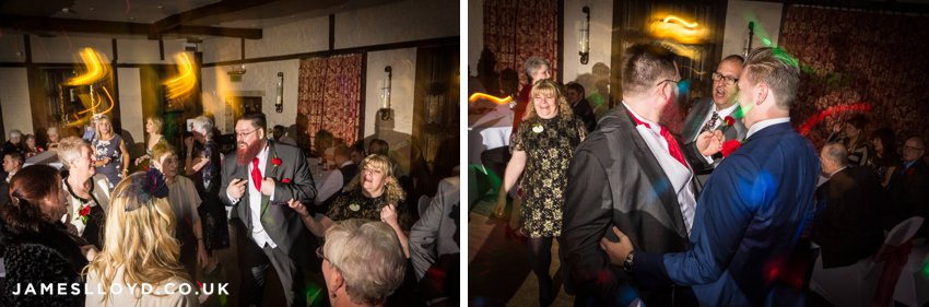 wedding dancing guests at Holdsworth House Hotel