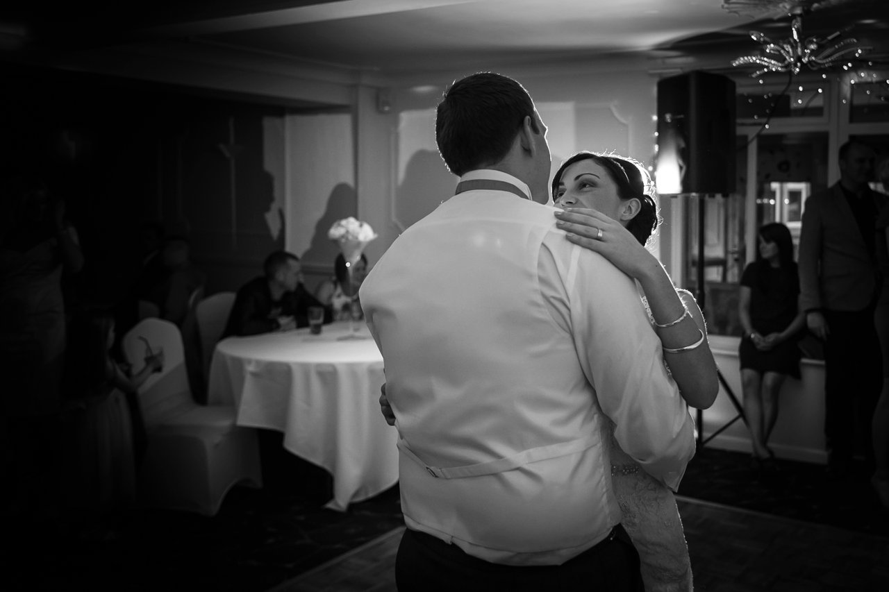 first dance black and white backlit at Towerhouse Hotel