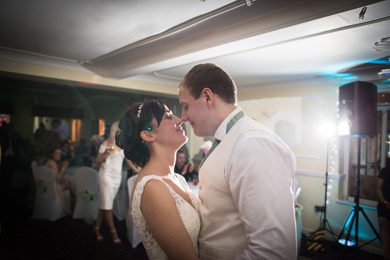 first dance with lens flare at Towerhouse hotel