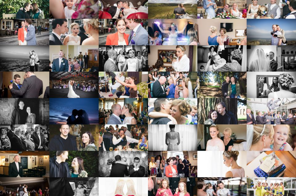 Montage of wedding photos