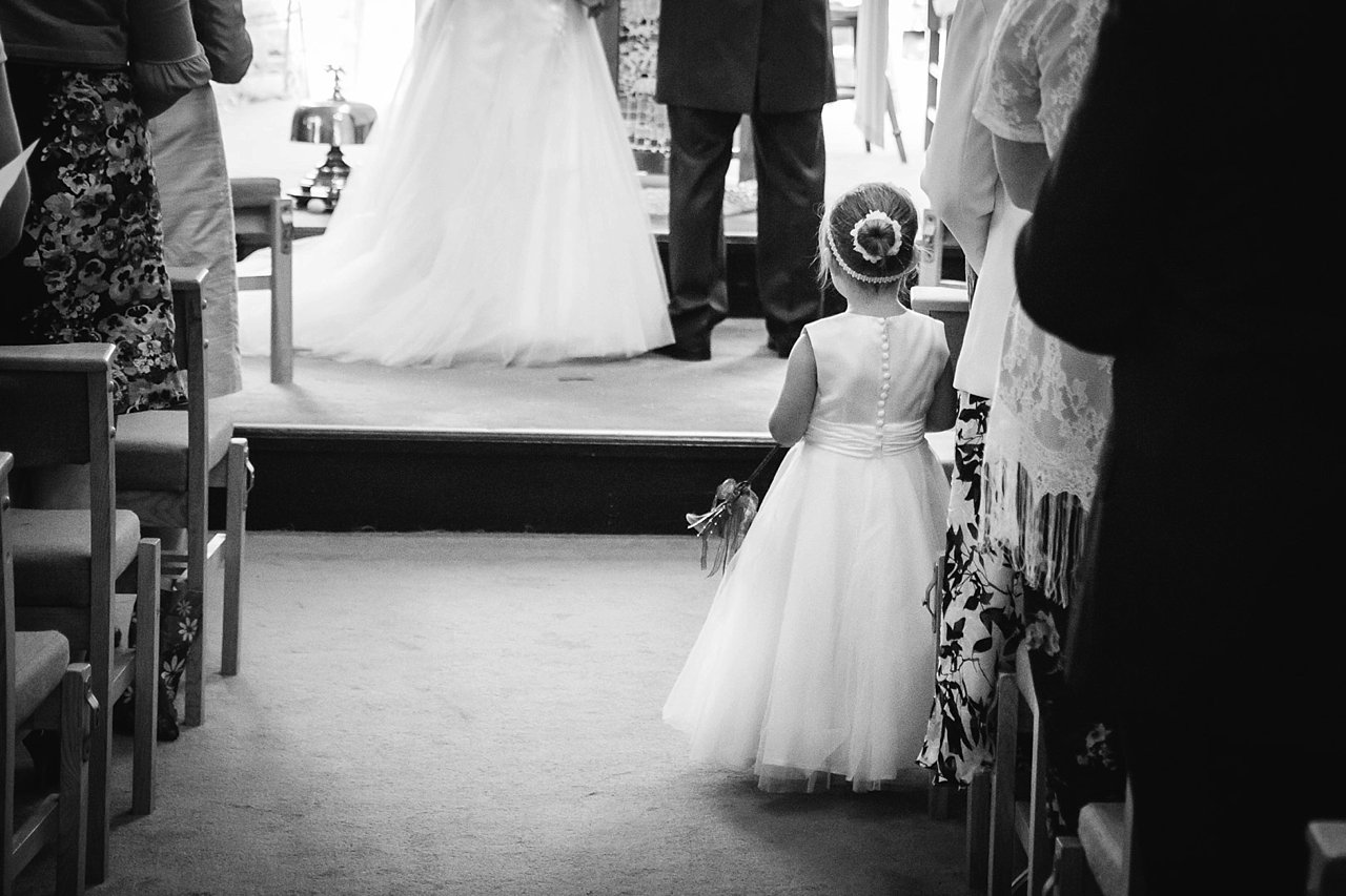 Flowergirl at wedding