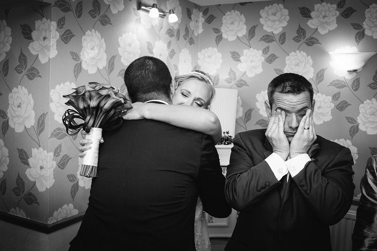 Tired groom