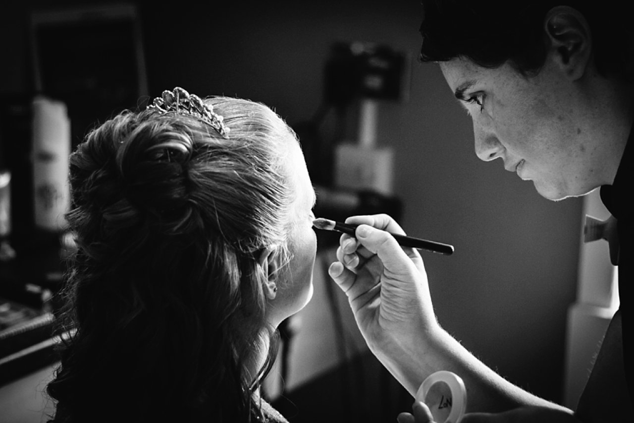 bridal make up black and white