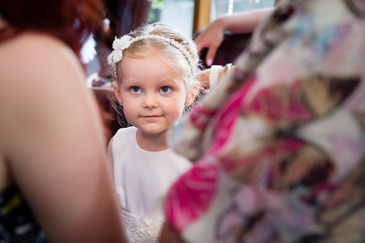 Small girl at wedding
