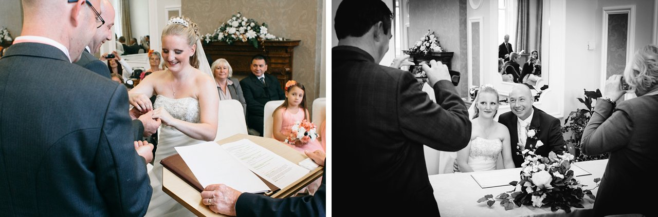 candid wedding guests at Huddersfield Registry office