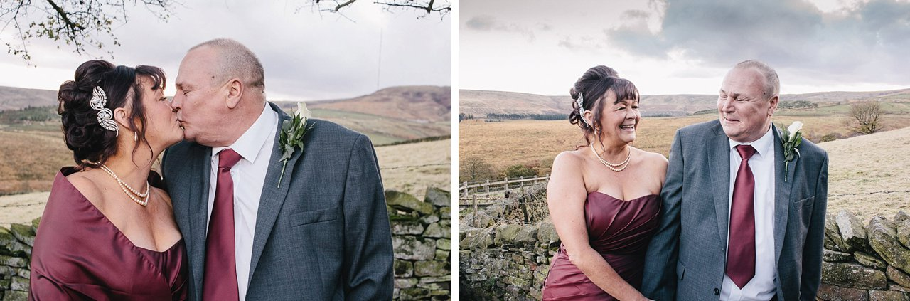 bride and groom portraits on the Yorkshire pennine moors