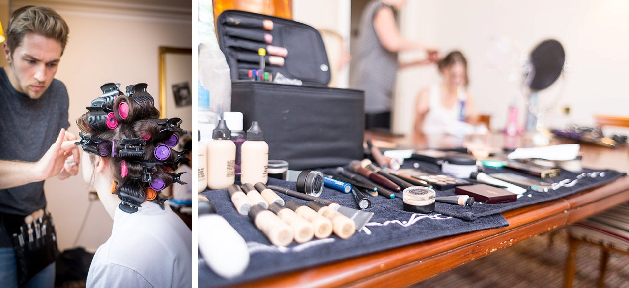 Bridal preparations and makeup