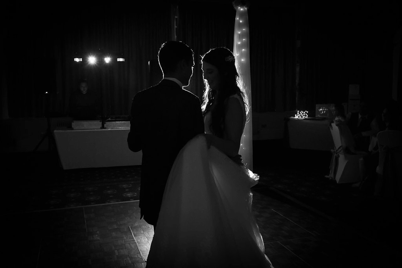 first dance at wedding silhouette