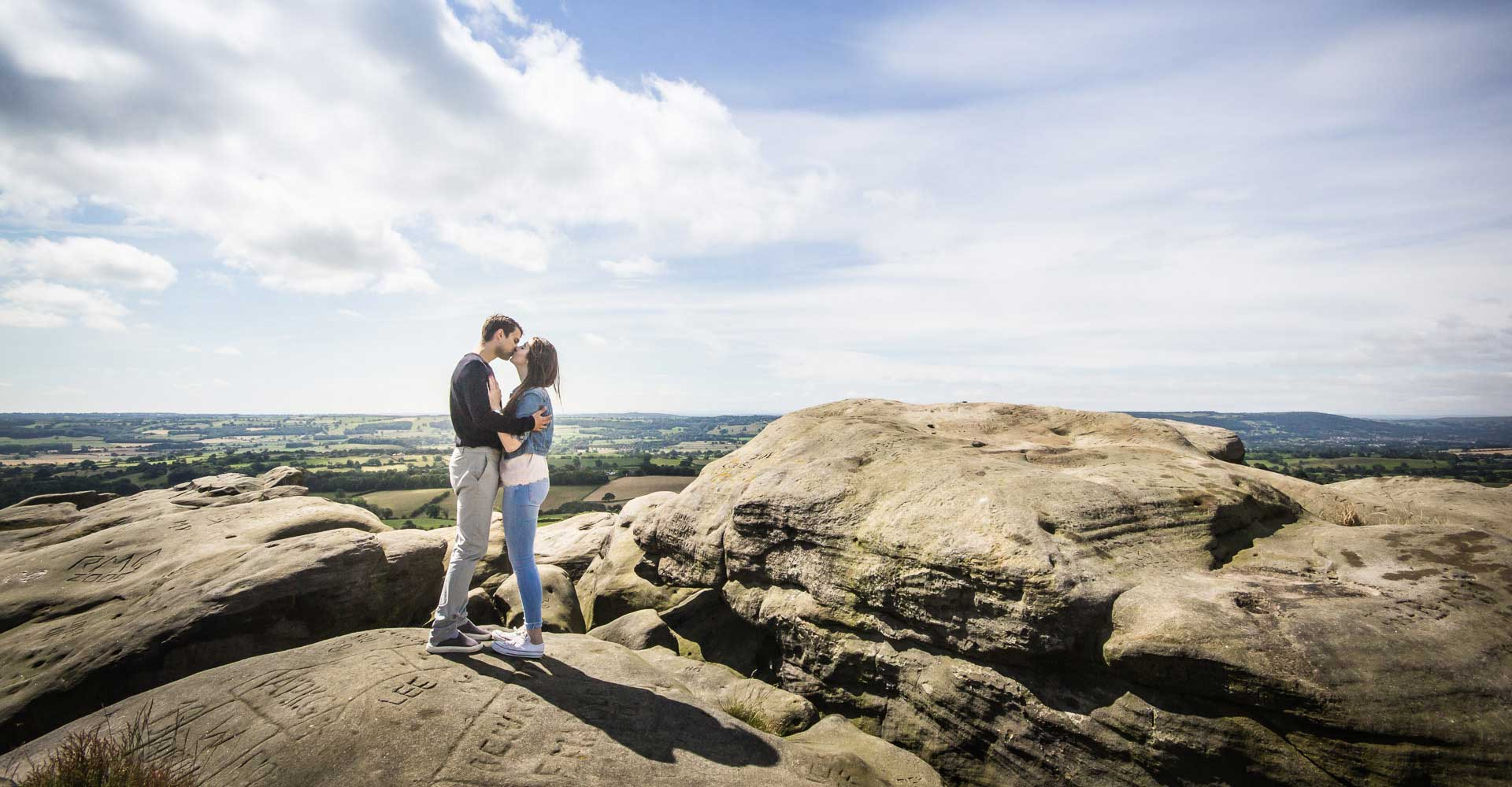 Couple on Alncliffe Cragg