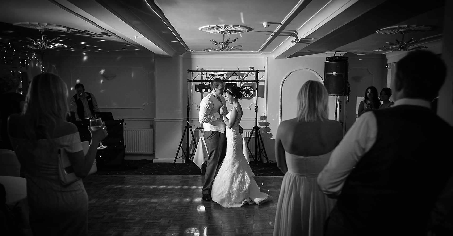 Bride and groom first dance at the Tower House hotel halifax