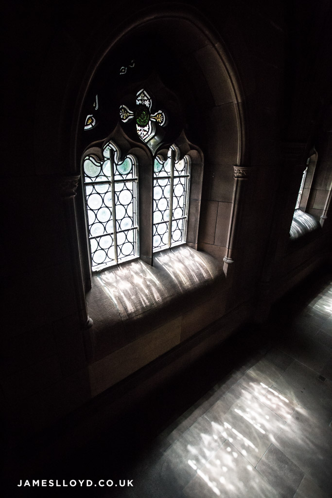 Window at John Ryland Library, Manchester