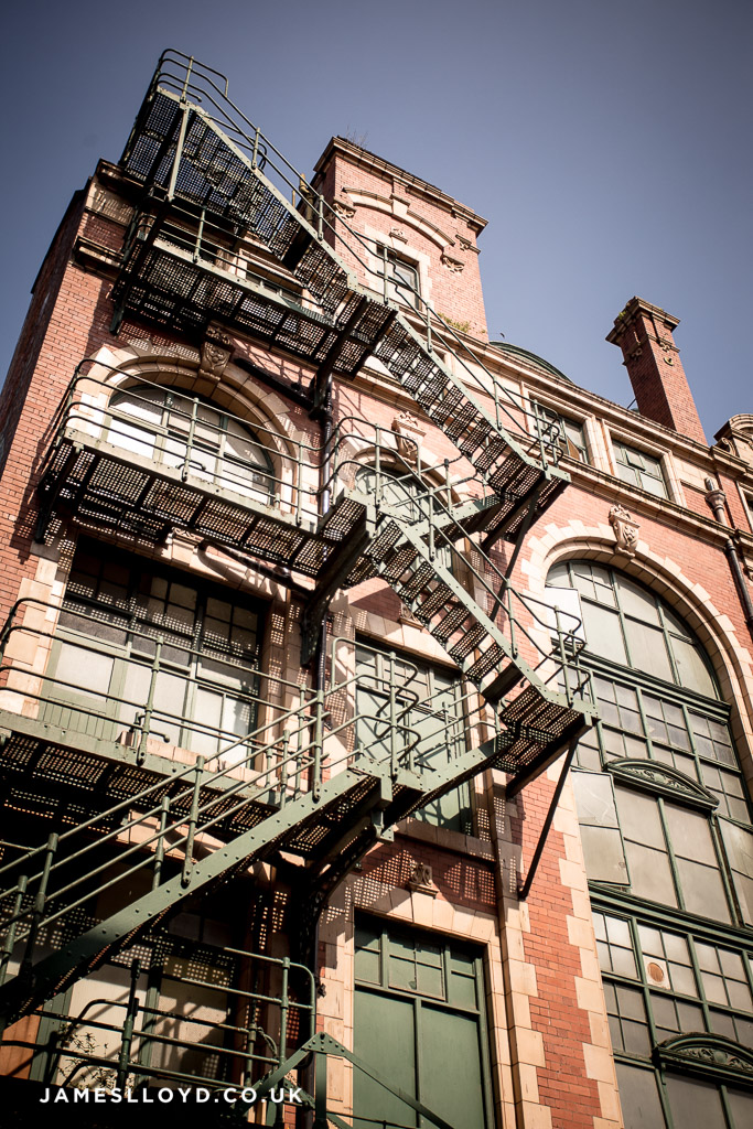 Fire escape in the Northern Quarter, Manchester
