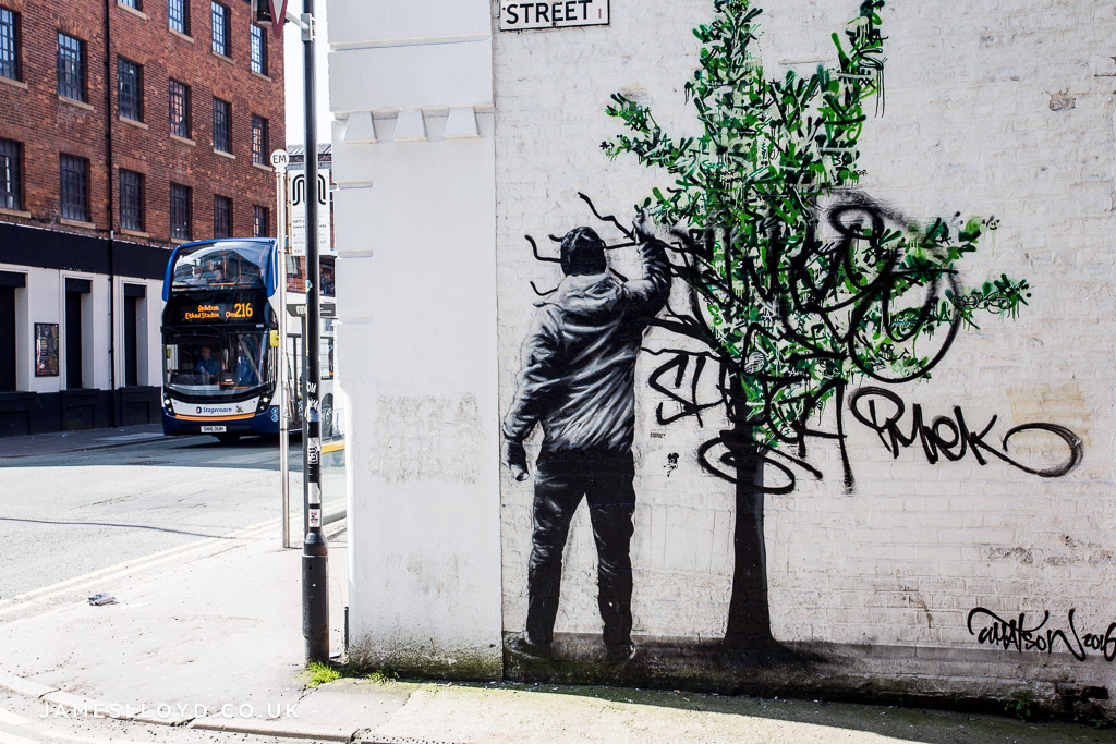 Street Art in the Northern Quarter, Manchester