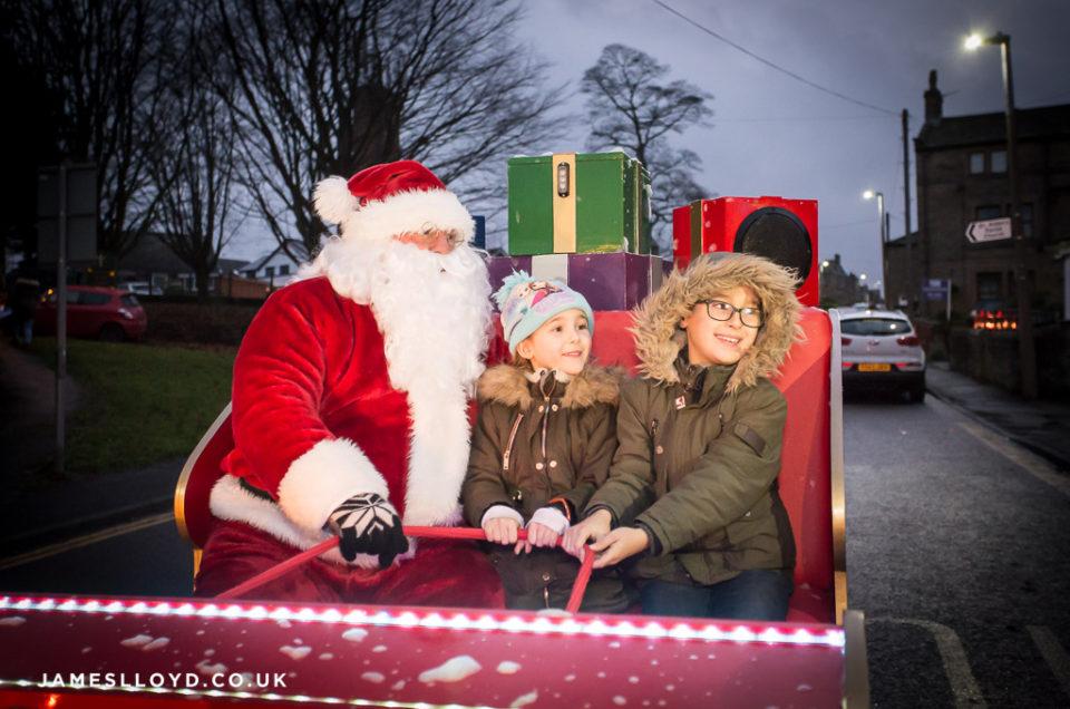 Santa in Sleigh in Skelmanthorpe